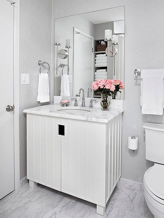 White On White Bathroom Ideas Part - 29: 320 Best Bathroom Ideas Images On Pinterest | Bathroom, Half Bathrooms And  My House