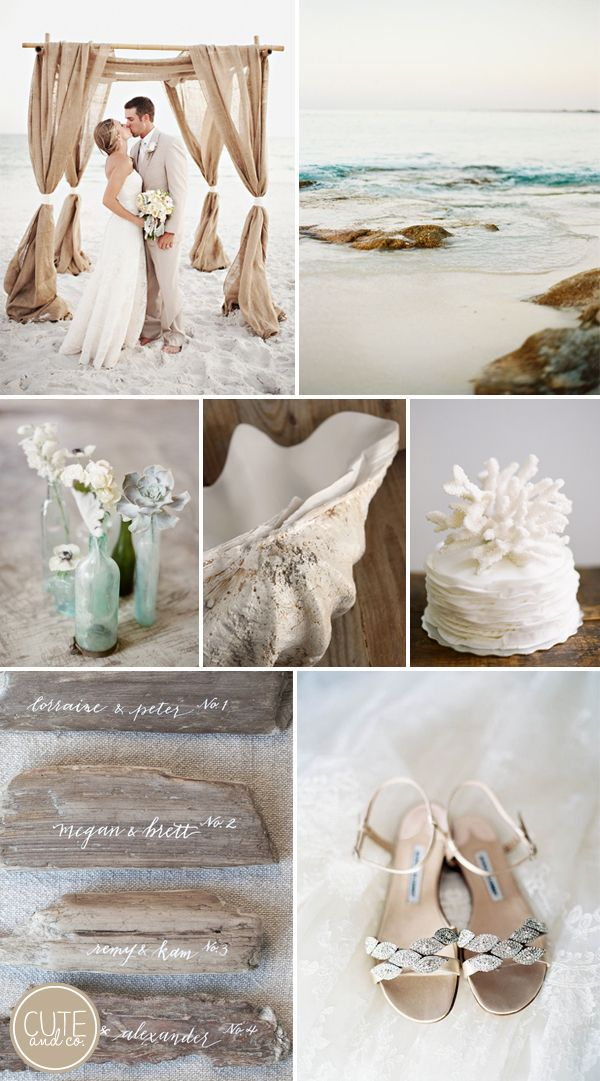 Coastal Wedding Inspiration by Cute & Co.