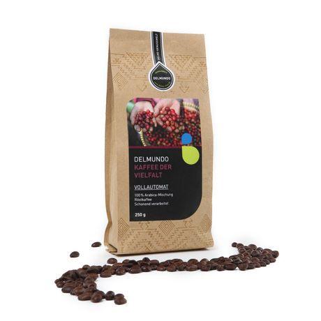 Unser Kaffee der Vielfalt für Vollautomaten - Eine klassische Röstkaffee-Komposition mit spezieller Röstung für Vollautomaten.
