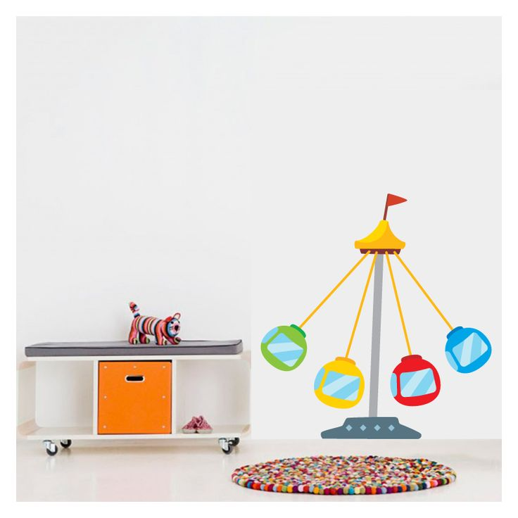 αυτοκόλλητο για παιδικό δωμάτιο με λούνα παρκ