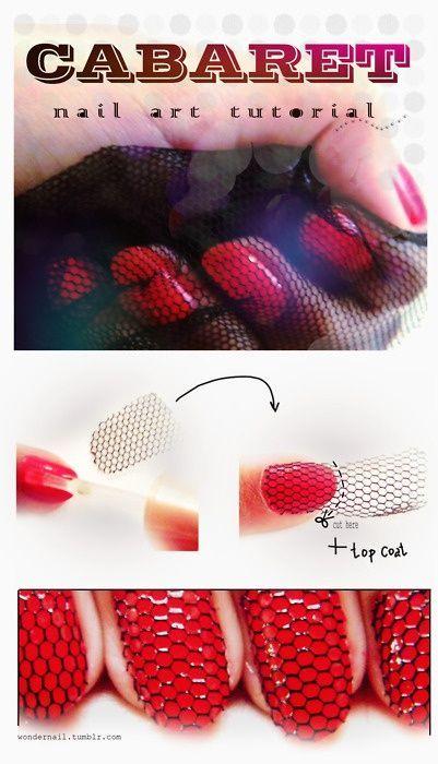Nail art fishnet tutorial