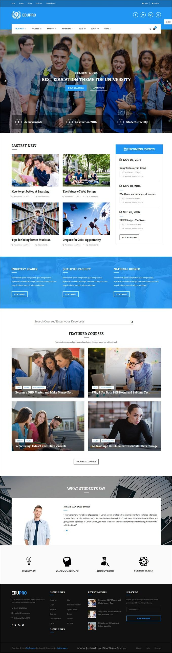 Education is a wonderful 10in1 responsive #WordPress theme  for #university, #college, #school, online courses and other education related websites download now➩ https://themeforest.net/item/edupro-professional-wordpress-education-theme/17591912?ref=Datasata