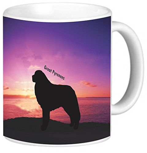 Rikki Knight Great Pyrenees Dog at Sunset Photo Quality Ceramic Coffee Mug 11Ounce *** You can find more details by visiting the image link.