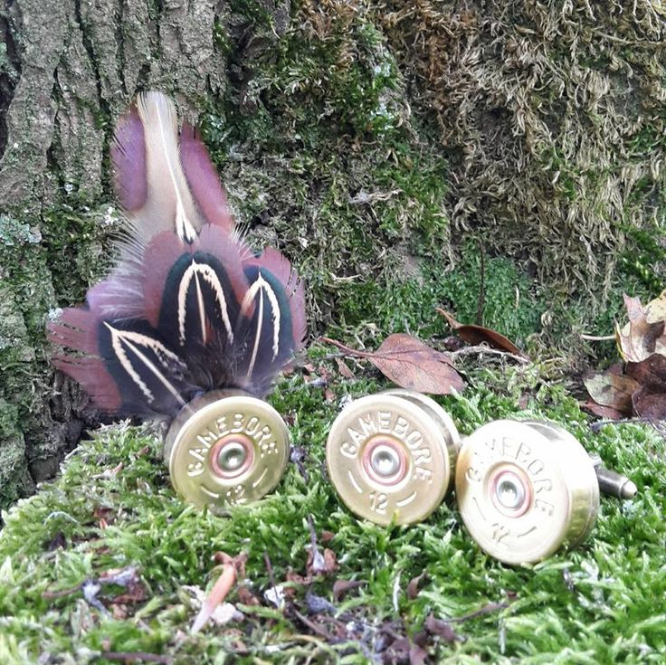 pheasant feather with shotgun cartridge. pin, buttonhole, hatpin/ brooch. matching shotgun cartridge cufflinks http://countrycraftybits.co.uk/