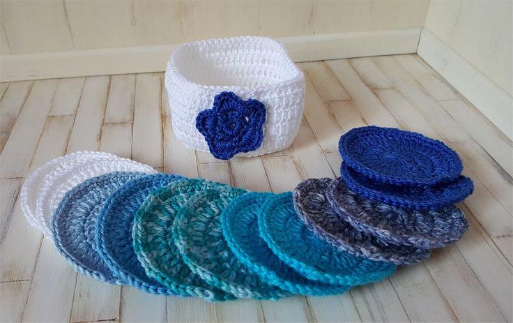 Lingettes démaquillantes lavables au crochet : Autres pièces pour créations par atelier-crochet