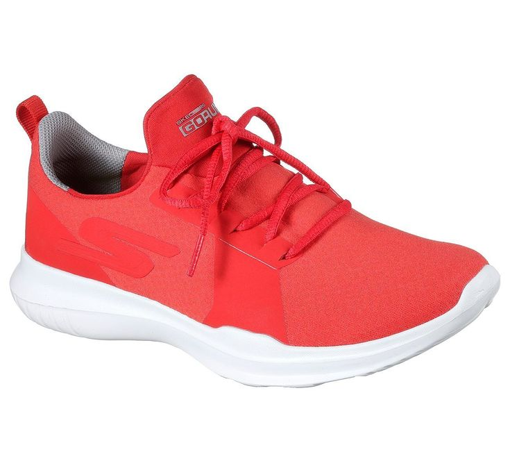14811 Red Go Run Skechers Shoes Women Sport Mesh Workout Gym Comfort Casual