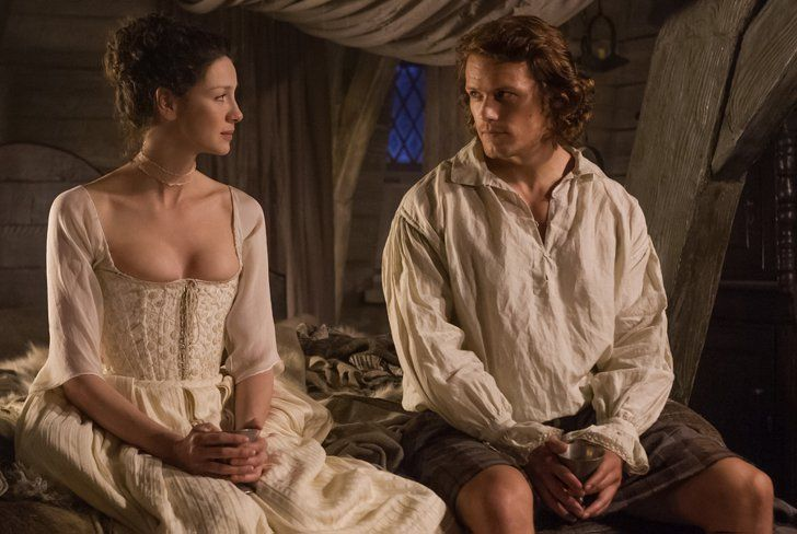 Pin for Later: 36 of the Sexiest (Borderline NSFW) Moments From Outlander  Ever sexier? Wedding night.