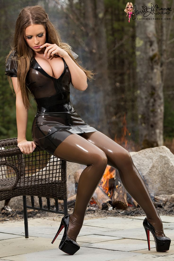 Something I love and something that is very common here in Maine is having campfires during the spring and summer time. So for this shoot, I'm wearing a semi transparent latex dress from Hou…