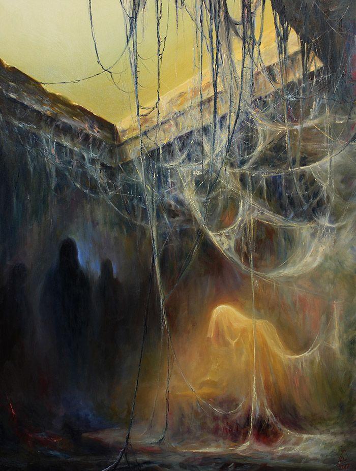WIZJE 80x100 Mariusz Lewandowski - oficjalna galeria i sklep internetowy polskiego malarza surrealisty