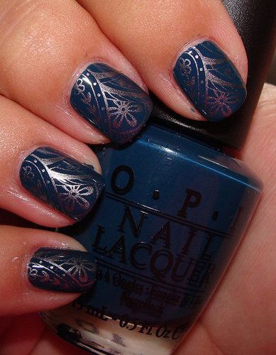 beautiful dark color: Nail Polish, Nailart, Style, Blue, Makeup, Colors, Nail Designs, Nails, Nail Art