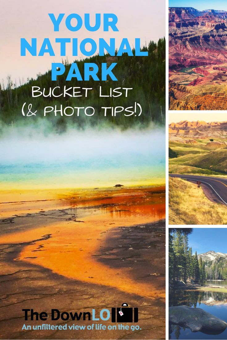 Your National Park Bucket List - tips for summer travel, photos and the must-see attraction in each adventure destination.