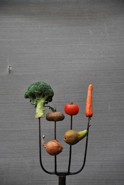 Biologische compositie    De foto voor een magazine over biologisch tuinieren.