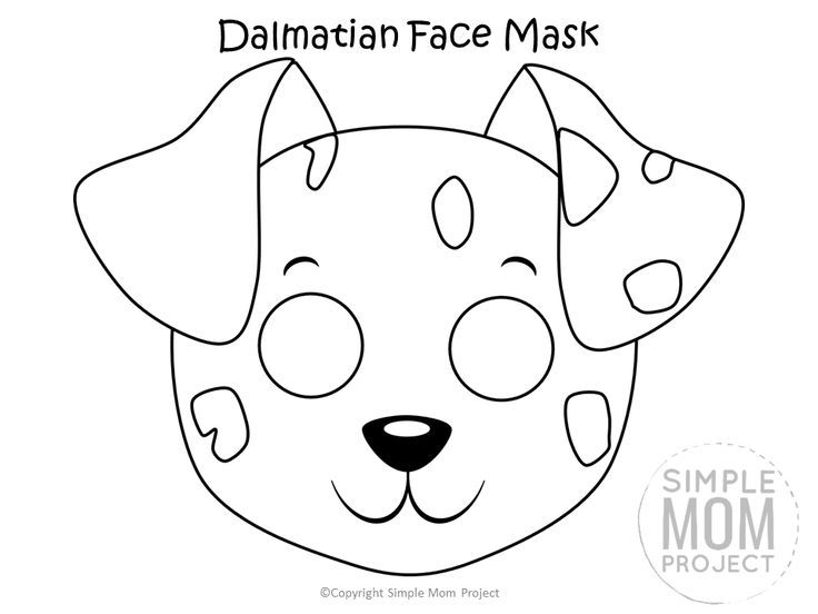 Dog Face Mask Templates Dog Mask Dog Face Puppy Coloring Pages