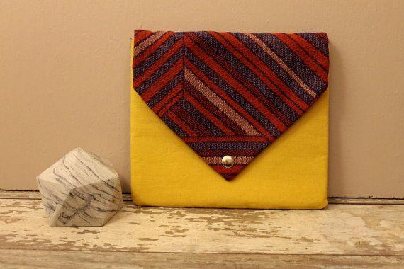 clutch envelope clutch blue clutch purse red clutch by Keyaiira