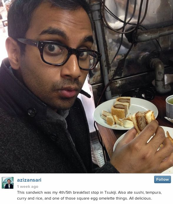 34 Pictures That Prove No One Is More Excited About Food Than Aziz Ansari
