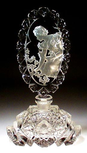 "Outstanding Vintage Perfume Bottle, by ""MORLEE Creation"". Czechoslovakia, ca.1930's."