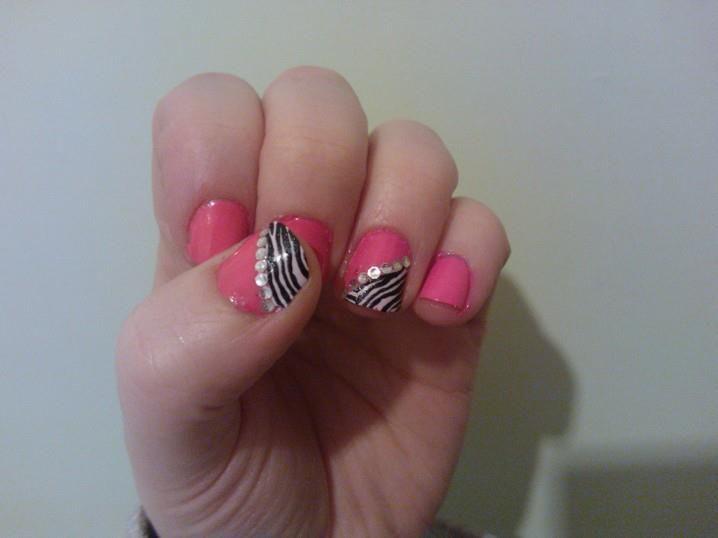 pink/zebra/bling