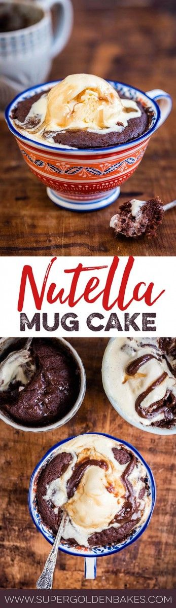 If you are in need of near instant chocolatey gratification – or in need of dessert in a hurry – this chocolate Nutella mug cake has your back!