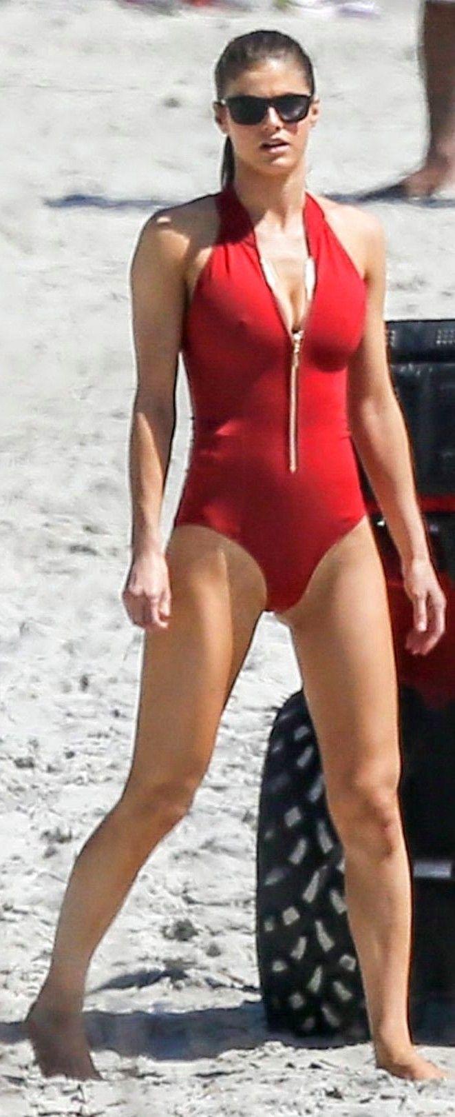 Alexandra Daddario Baywatch Swimsuit Red Alexandra Daddario