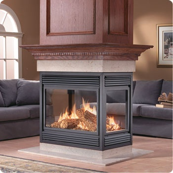 Napoleon Fireplace Napoleon See Thru Peninsula Island And Corner Natural B Vent Gas Fireplace
