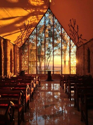 Spectacular photo we found of the sunrise at The Chapel, Montville, Queensland