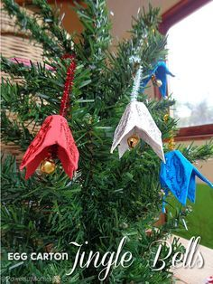 416 best homemade ornaments images on pinterest a for Jingle bell christmas ornament crafts