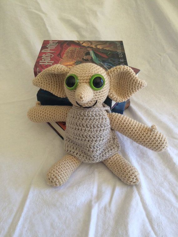 Dobby Harry Potter Amigurumi : Crochet Dobby the house elf. Large Harry Potter stuffed ...