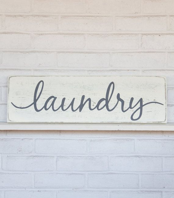 Laundry sign, rustic laundry decor, rustic wood sign