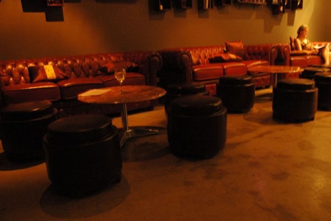 Seating area with chesterfield sofas in Brisbane Supper Club bar. 1/471 Adelaide Street