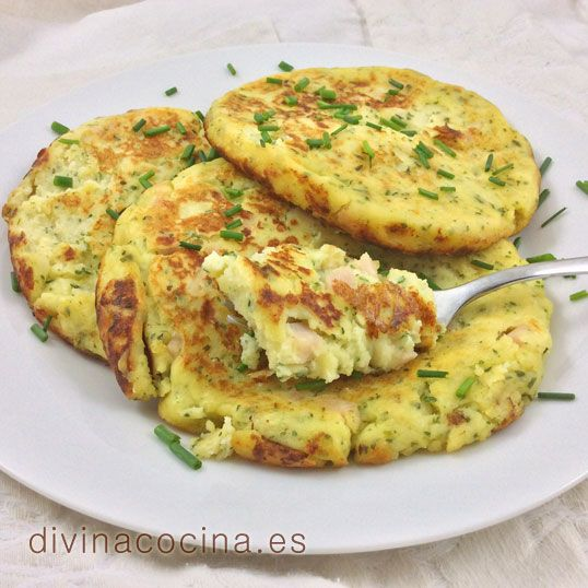 Tortitas de puré de patata » Divina CocinaRecetas fáciles, cocina andaluza y del mundo. » Divina Cocina