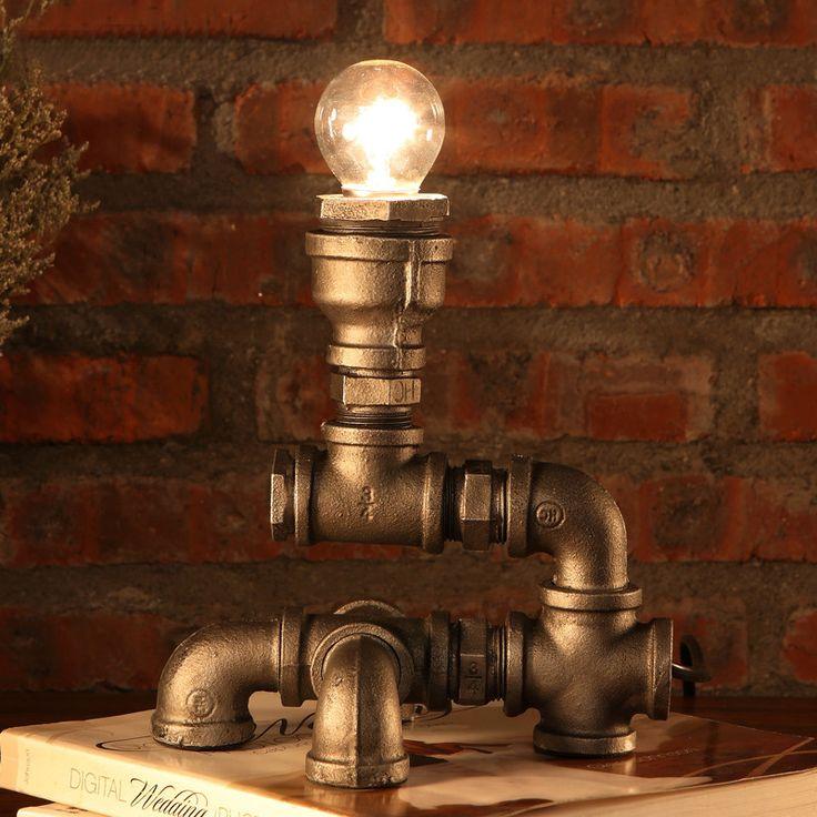 Bare Vertical Bulb Victorian Desk Lamp Ornament Lighting Steampunk Retro | DC LED Lighting | 12Vmonster