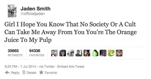 Jaden Smith's New Song Is Just A Series Of Jaden Smith Tweets: this is so great I literally can't even handle it