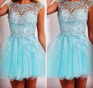 Light Sky blue Classy Homecoming Dress,Sexy Party Dress,Charming Homecoming…