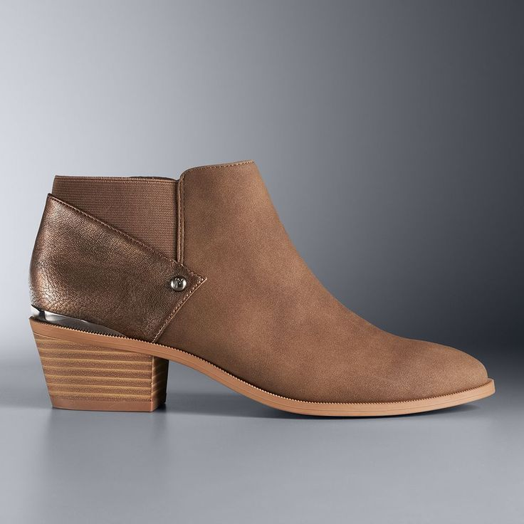 Simply Vera Vera Wang Vienna Women's Ankle Boots, Size: medium (9.5), Brown