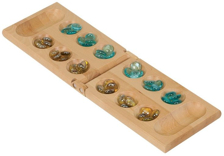 Personalized Mancala Set Includes Marbles In 2020 Green Brown East Wood Game Room