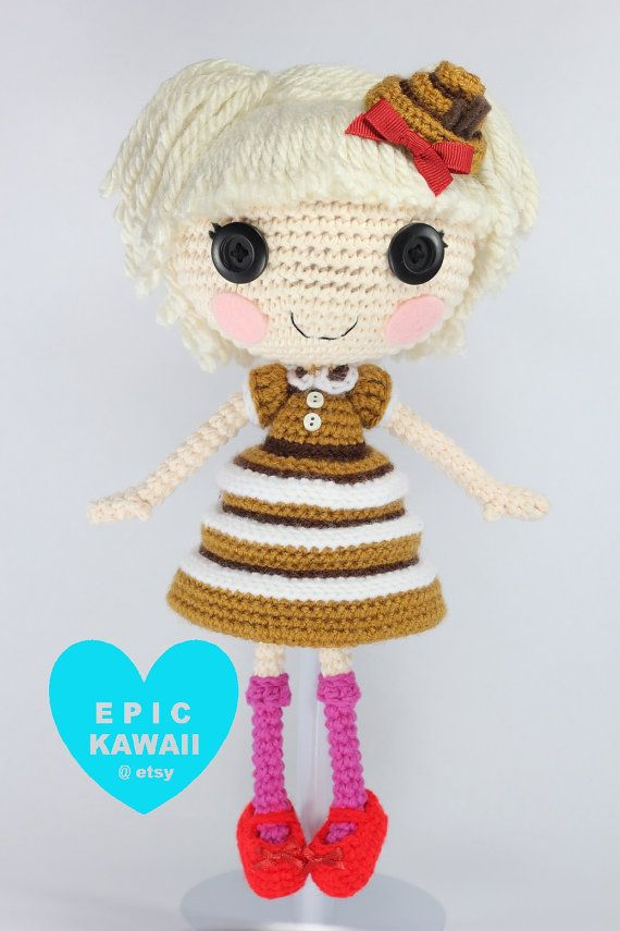 PATTERN Lalaloopsy Bun Bun Sticky Icing Crochet by epickawaii
