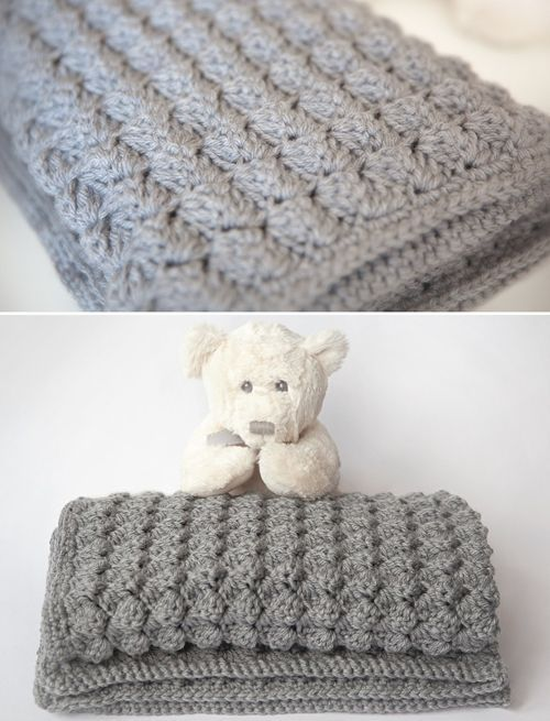 Cozy & Free Baby Blanket Crochet PatternSo smooshy! Free pattern through the link at Bloglovin. Made by crochet-for-children.
