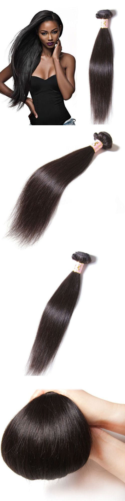 Hair Extensions: 1 Bundle Thick 7A Straight Malaysia Virgin Human Hair Weave Hair Extension 100G -> BUY IT NOW ONLY: $30.99 on eBay!