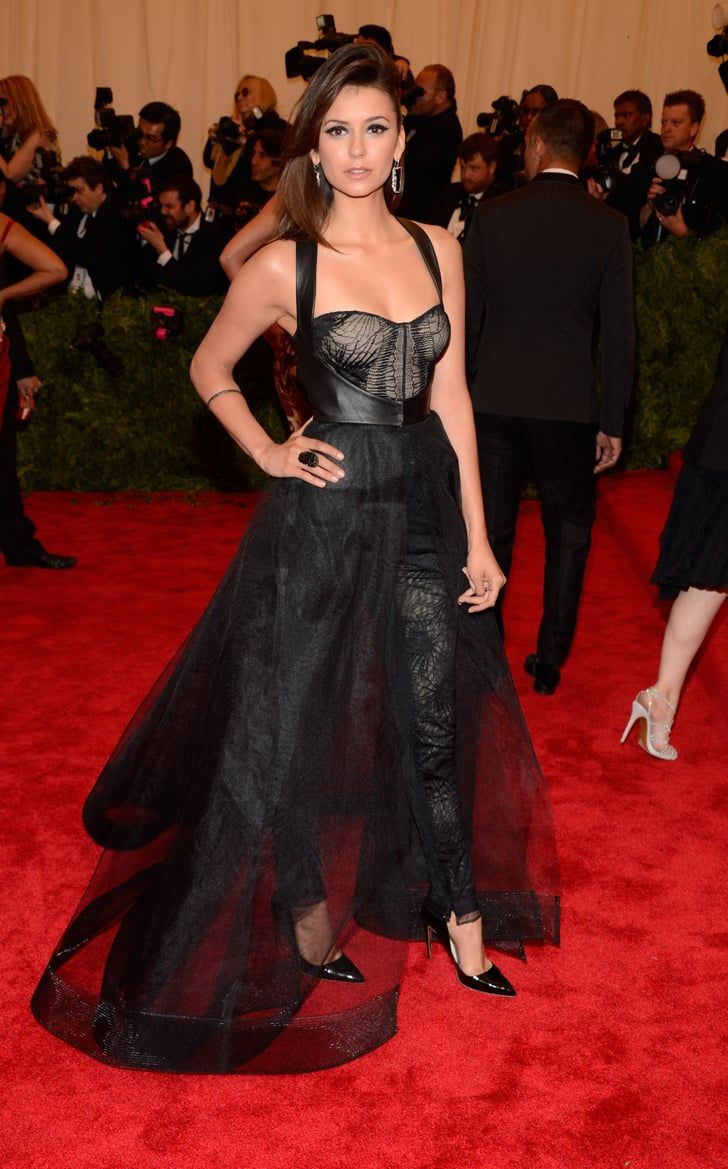 Nina Dobrev Vamps It Up On The Met Gala Red Carpet Met Gala Looks Met Gala Celebrity Style Red Carpet