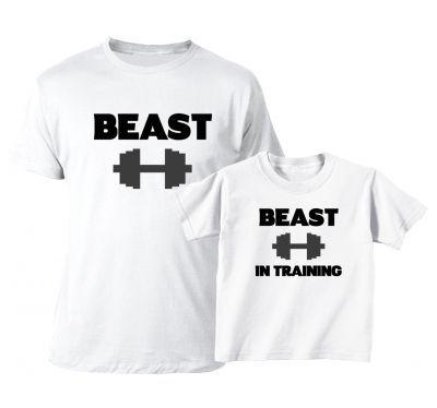 Set tricouri familie Beast