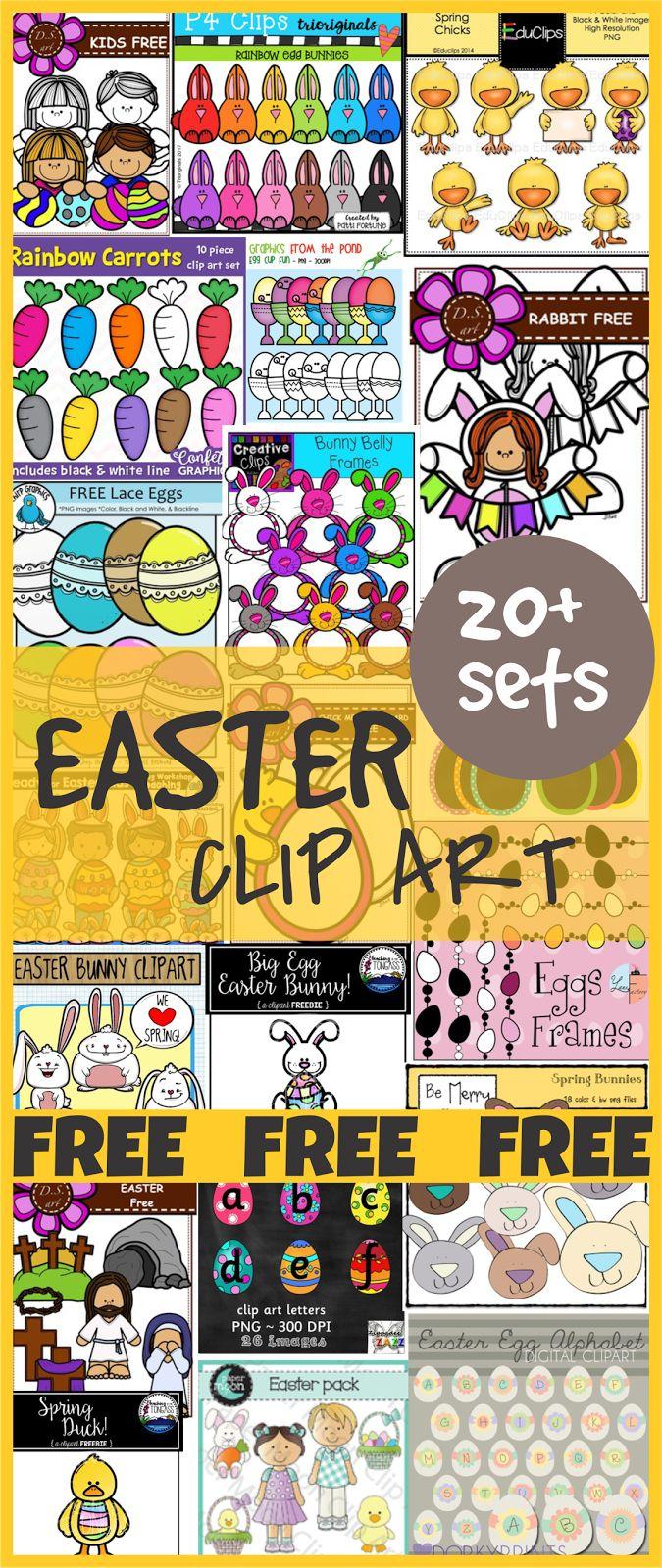 20+ FREE Easter Clip Art Sets