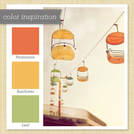 Yellow And Orange Kitchen: Orange, Yellow And Green Color Palette 50