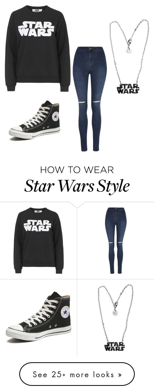 """Star Wars outfit"" by tamia-and-me on Polyvore featuring Tee and Cake, George and Converse"