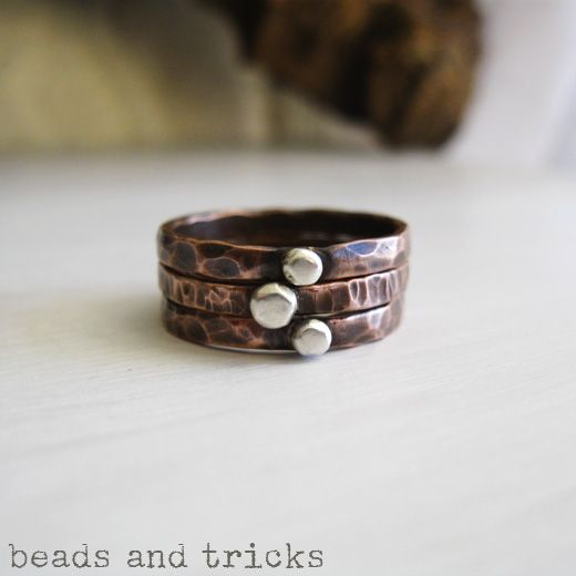 Anelli impilabili/Stacking rings | Handmade by Beads and Tricks