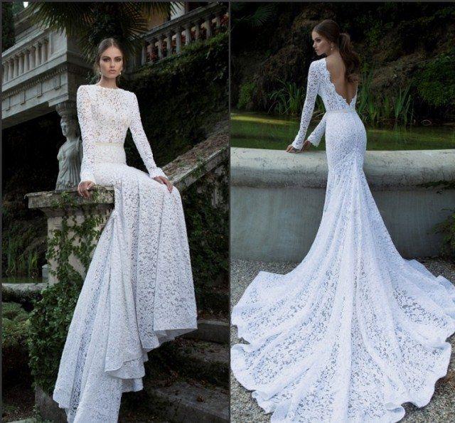 Robe de mariée dos nu, semi-nu et en dentelle – 70 designs magnifiques