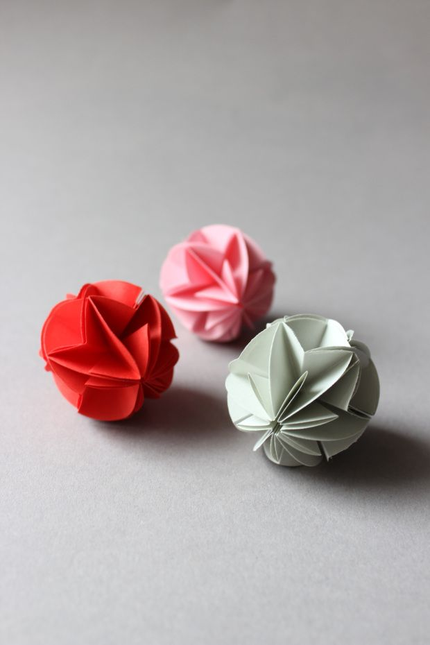 Origami Balls. You could make these and put them in a vase or something for decoration