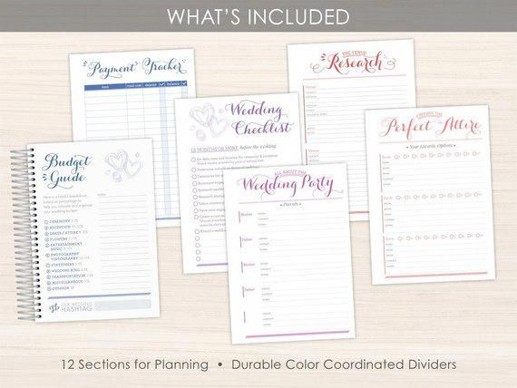 Custom Wedding Planner Keepsake Planner Wedding Planning Guide Wedding Planner Book Bride To Wedding Planner Book Custom Engagement Gifts Bridal Organizer