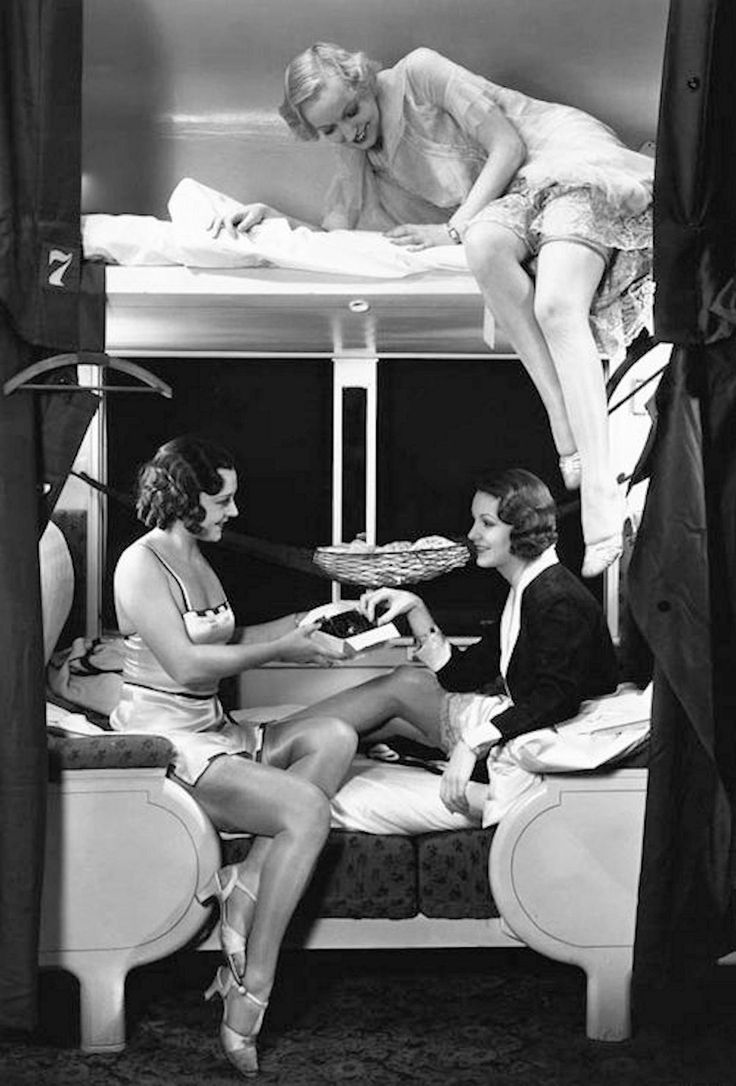1930's Slumber party on a train