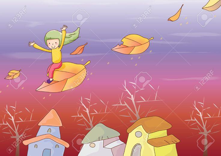 51482414-chica-volando-en-la-hoja-Foto-de-archivo.jpg (1300×919)