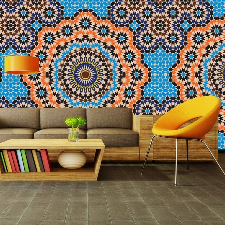 This is a moroccan inspired zellige wallpaper via for Moroccan style wallpaper